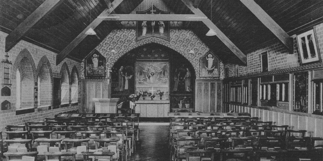 The Chapel in 1908. The origial Chapel of St Mary Eversley Folkestone